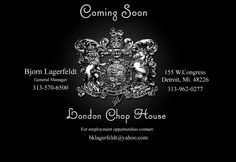 Reopening Tuesday after years left dormant. The legendary London Chop House is coming back from the grave and I'm excited about it!