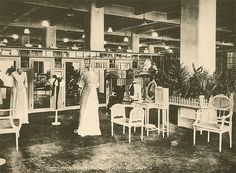 The French room, Goodwin's department store, Quebec, 1930. #vintage #fashion #shopping #1930s