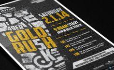 49er Gold Rush 5K 2014 by Brittany Davis, via Behance