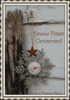 Snowflake Ornament for sale year round