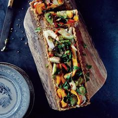 Savory Harvest Vegetable Tart with Toasted Quinoa Crust | CookingLight.com