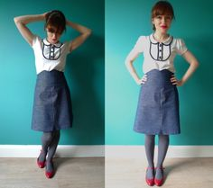 Tilly and the Buttons: My Denim Ginger Skirt