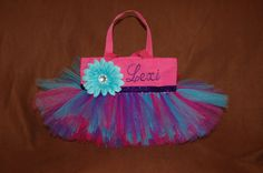 Beautiful UNIQUE Pink/Purple and Turquoise Tutu by bashergirl, $30.00