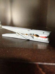 Shark clothespin! Easy to make!