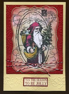 Jolly Old Santa christma card