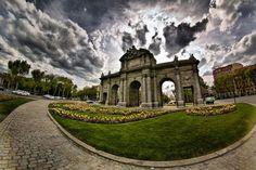 La Puerta de Alcalá,Recoletos,Madrid,Spain