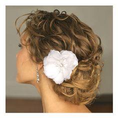 Curly hair bun.