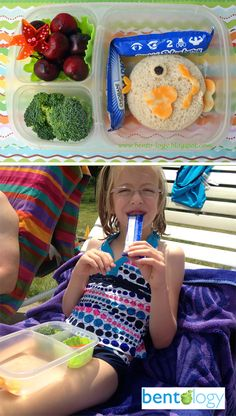 Bento lunch by the pool from Bento-logy, packed in an EasyLunchbox