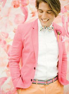 colorful + preppy groom | KT Merry #wedding