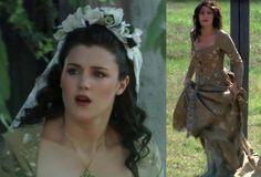 Marian in her wedding dress