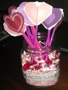 """valentine """"acts of love"""" countdown    original idea and printables:  http://www.makeandtakes.com/valentines-count-down-printable"""