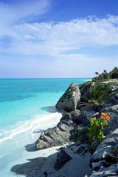 Tulum, Mexico I have been there. So Beautiful would love to go back!!