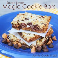Seven Layer Magic Cookie Bars from Jamie Cooks It Up!