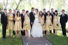 parti stuff, wedding parties, yellow weddings, style