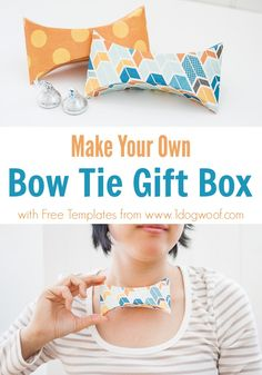 bow tie gift box with templates