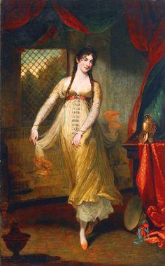 Portrait of Mademoiselle Hilligsberg - John Hoppner - 1791