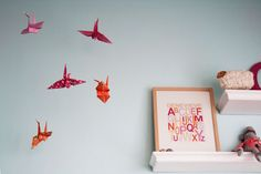 and what about origami critters over the changing area...?