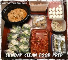 Weekly Food Prep :: via He and She Eat Clean: A Guide to Eating Clean... Married!