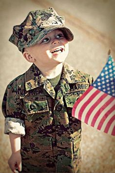 So cute! Little marine!