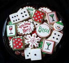 More Bunco Cookies-Christmas Style