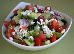 Avocado, Cucumber & Tomato Salad