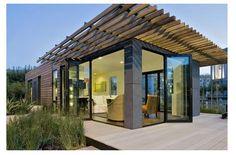 wall system, idea, houses, glass wall, mklotus hous