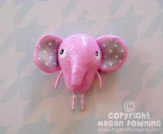 Pin  Josephine the Pink Elephant  Paperclay by PigAndPumpkin