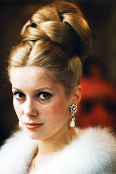 catherine deneuve #vintage #fashion #hair #photography