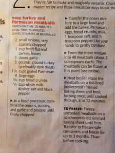 Turkey meatballs from real simple October 2011