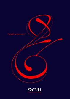 #Playful #Ampersand. #Moshik Nadav #Typography.        #ampersands #experimental #typography #typo #font #fonts #type #fashion #sleek #deep #hues #graphic #art #navy #red #rouge