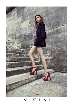 Hugues Laurent Takes the Vicini Fall 2012 Campaign to Paris with Imogen Morris Clarke #hugueslaurent #vicini #fall2012 #campaign #morrisclarke #fall #2012 #paris #fashion #fashionstyling #style #model #redshoes
