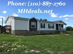 5 acres of beautiful land accompanied by a large 3 bed 2 bath Doublewide Home for only 119900. http://mhdeals.net/gallery/used-double-wide-mobile-homes/Land-Home-2008-Southern-Energy-Poteet-TX  (210)-887-2760 LIC#36155