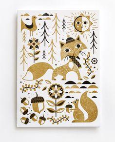 2013 Letterpress Holiday card set | Tad Carpenter Creative