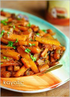 caramelized carrots side dish ... interesting combination, but it does sound yummy