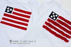 his/hers Patriotic Tshirts