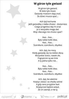 kołysanki dla dzieci, tekst kołysanki  polish lullaby
