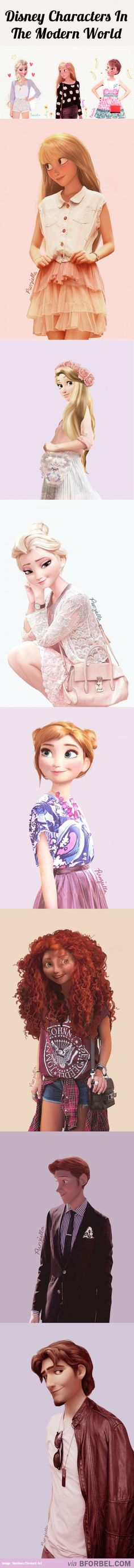 7 Disney Characters Dressed For The Modern World…..