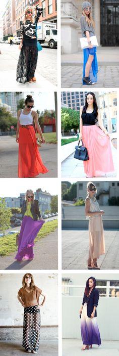 Formas de combinar tu maxi falda