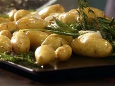 Roasted Fingerling Potatoes with Fresh Herbs and Garlic Recipe : Tyler Florence : Food Network - FoodNetwork.com