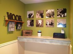Dog Room Wall of Fame-  Doing this with all of HamBastian's doggy cousins and God sister!