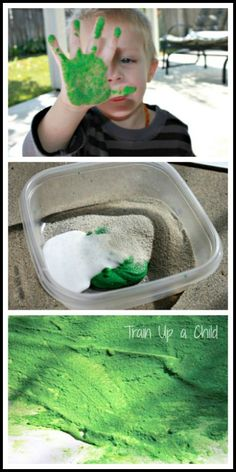 Create a wonderful sensory paint experience with sand paint!  This simple recipe is quick and easy to mix and allows children to explore through touch and textures. #diy #kids #learning