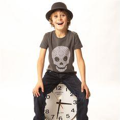 child's short-sleeved skull t-shirt by Redurchin