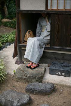 Entrance of Japanese tea room