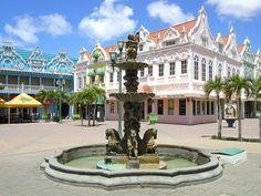 Aruba - Oranjestad Dutch style buildings