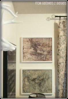 RH Oversized Map Art Knock Off [tutorial}
