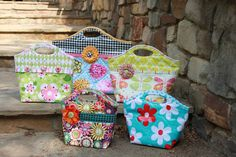 lunch bags laminated sew serendipity