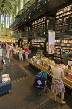 An old church building converted to a bookstore with a cafe. A definite must-see! And of course it's in Holland; they have all the cool stuff.