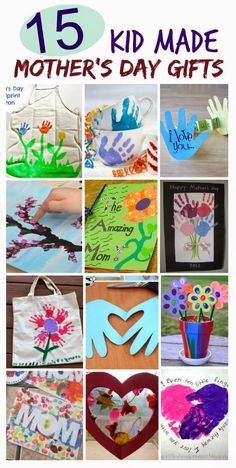 15 Mother's Day Gifts Kids Can Make- such cute ideas mom will love!