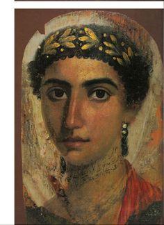Fayum portrait of a woman. Encaustic Greco-Roman #encaustic #painting