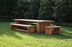Plank table and benches  www.robertplumb.com.au